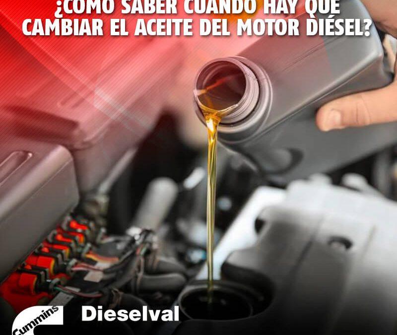 ¿Cómo saber cuándo hay que cambiar el aceite del motor diésel?