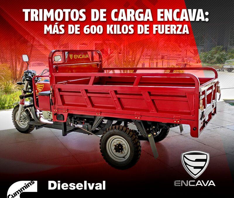 Trimotos de carga Encava: más de 600 kilos de fuerza